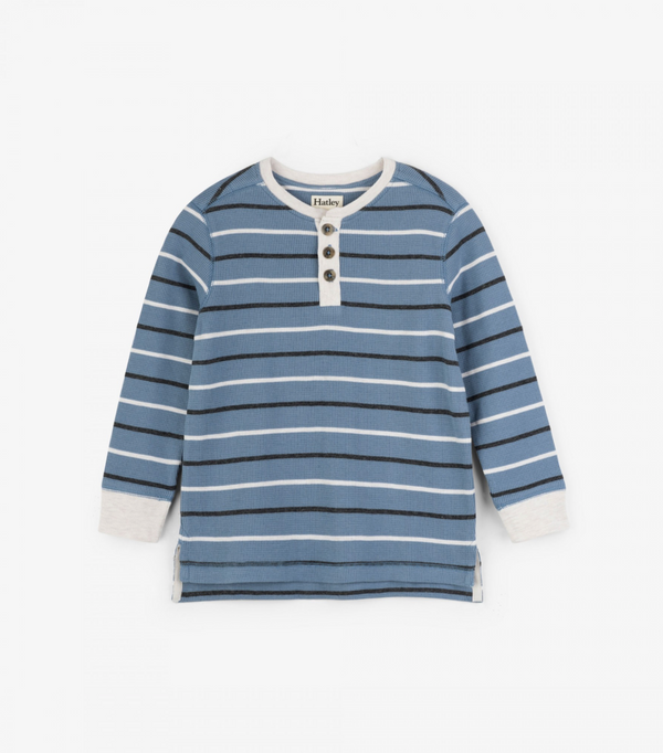 Blue Striped Henley