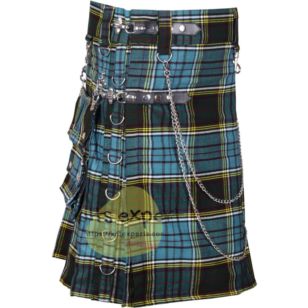 Anderson Tartan 16OZ Stud Kilt With Detachable Chain & Pockets