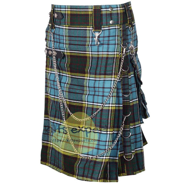 Anderson Tartan 16OZ Stud Kilt With Detachable Chain & Pockets - Kilt Experts