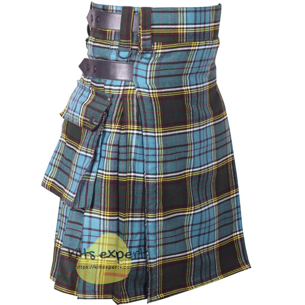 Anderson Tartan Heavy 16OZ Leather Straps Utility Kilt