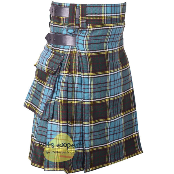Anderson Tartan Heavy 16OZ Leather Straps Utility Kilt - Kilt Experts