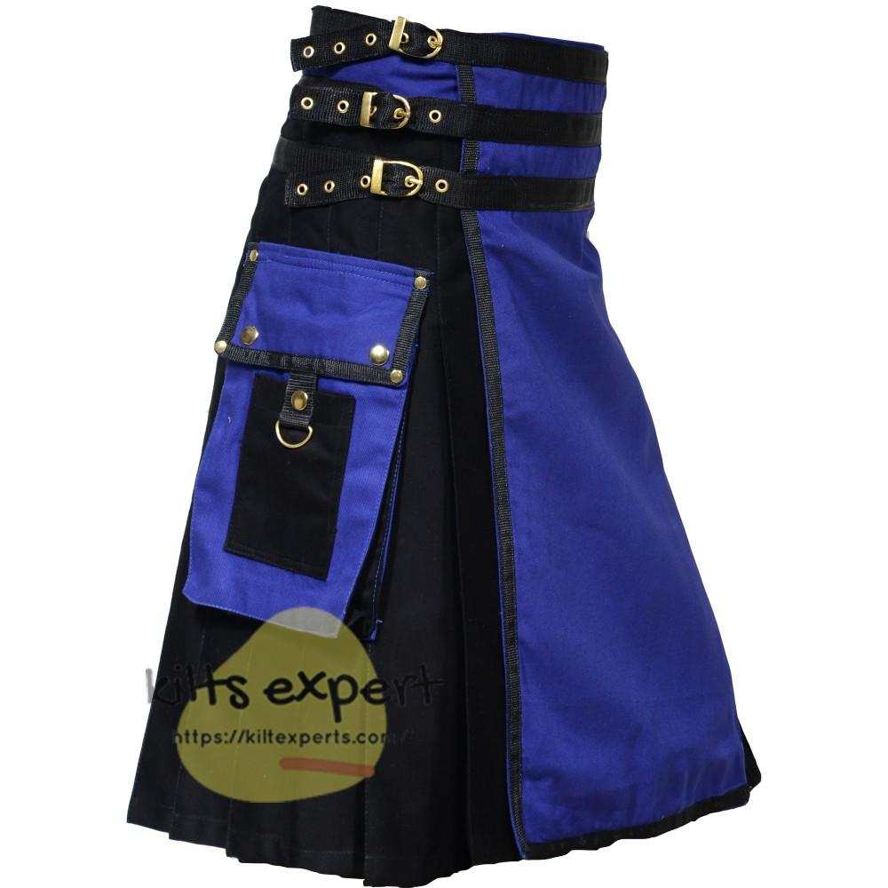 Black & Blue Two Tone Kilt