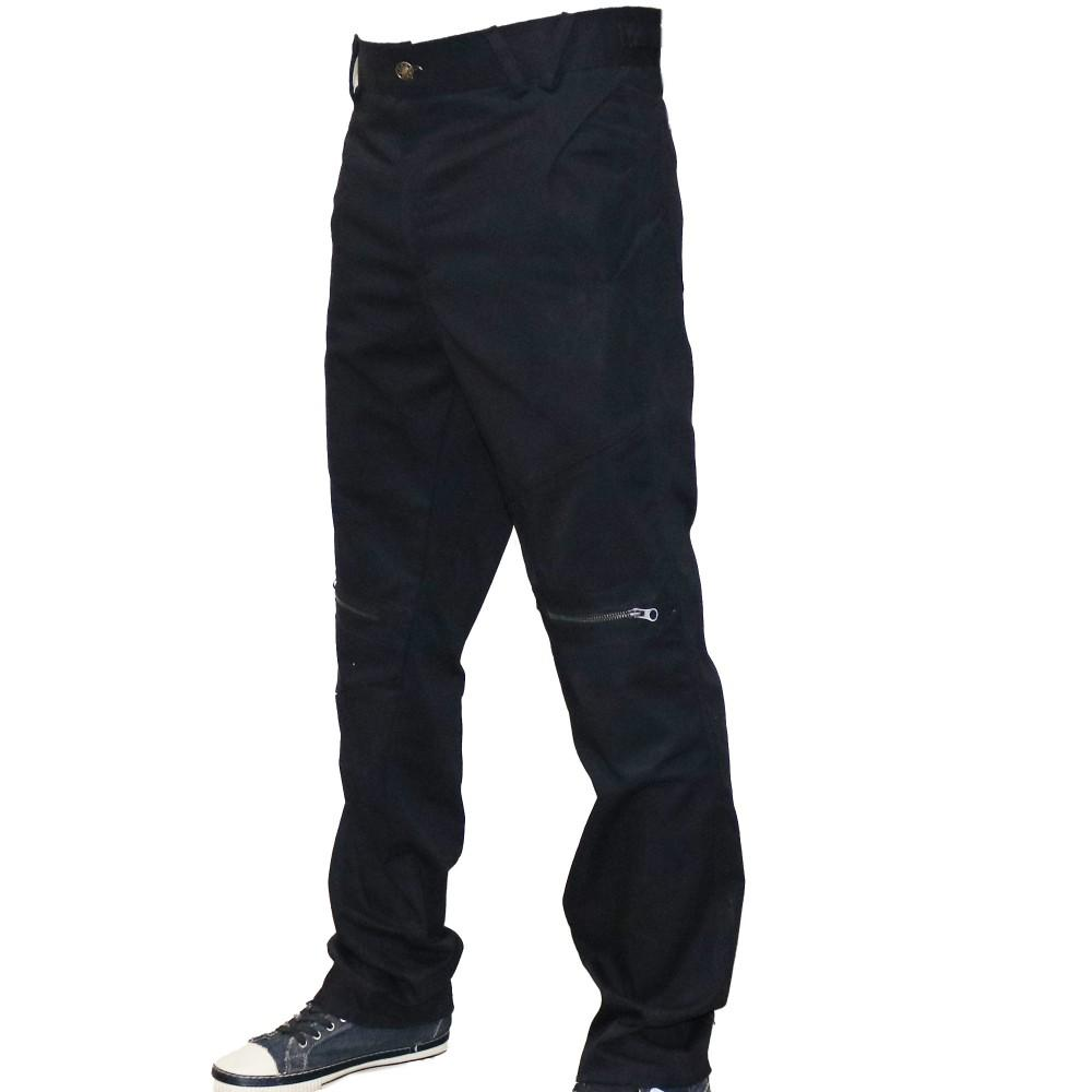 Black Dashing Cotton Pant For Active Men