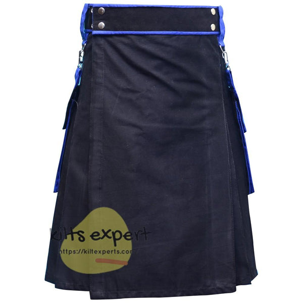 Black Fashionable Kilt For Men - Kilt Experts