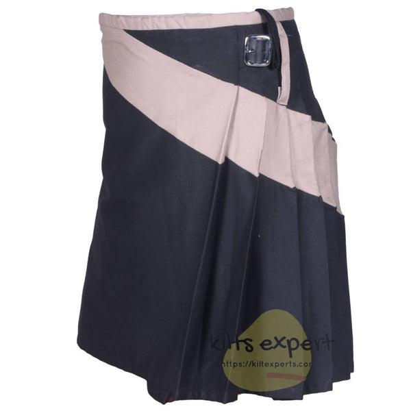 Black & Khaki Two Tone Modern Utility Kilts For Active Men - Kilt Experts