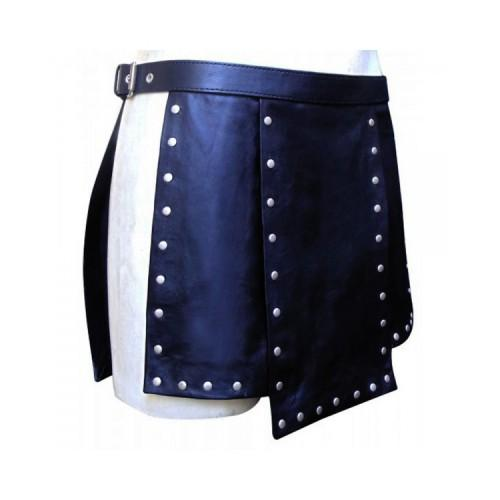Black Leather Studs Fashionable Kilt Kilt Experts
