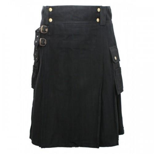 Black Modern Kilt For Men - Kilt Experts