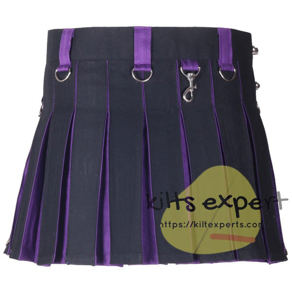 Black & Purple Hybird Women's Kilt - Kilt Experts