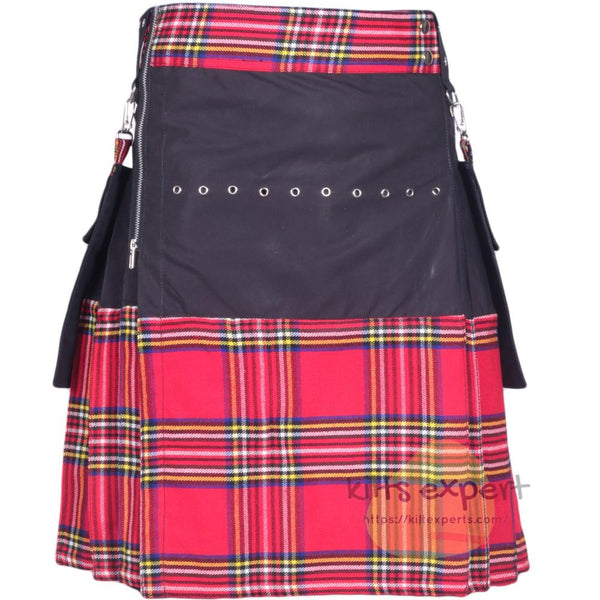 Black & Royal Stewart Modern Kilt For Men Kilt Experts