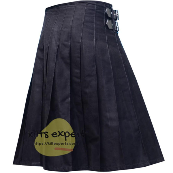 Black Tartan Style Utility Kilt - Kilt Experts