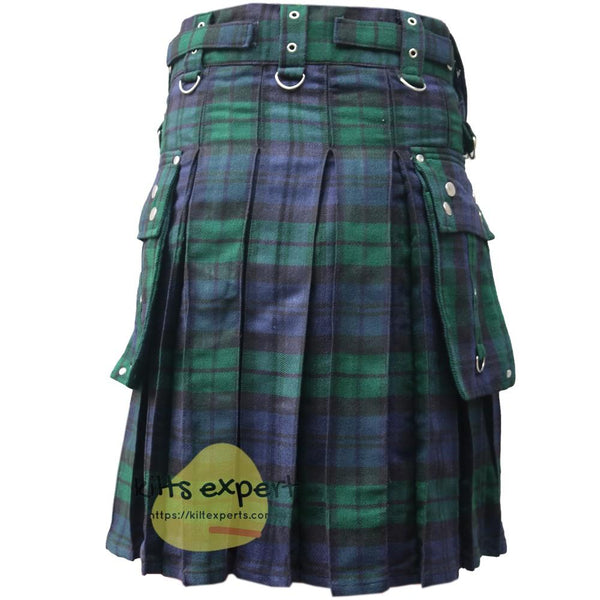 Black Watch Gothic Zipper Utility Kilt - Kilt Experts