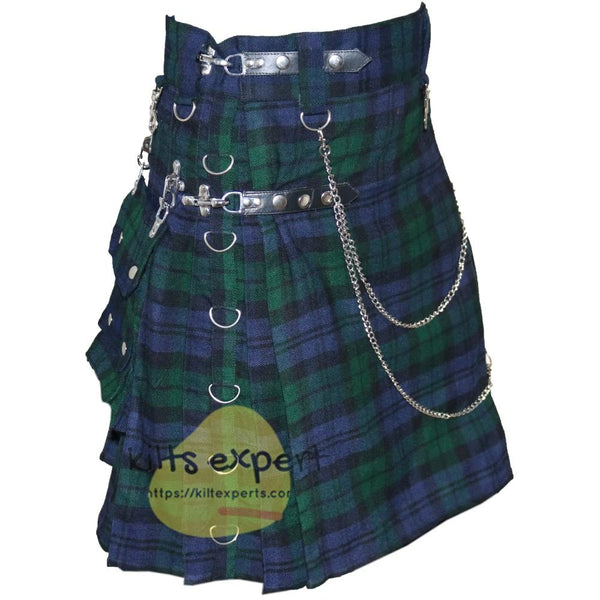 Black Watch Heavy 16Oz Stud Kilt - Kilt Experts