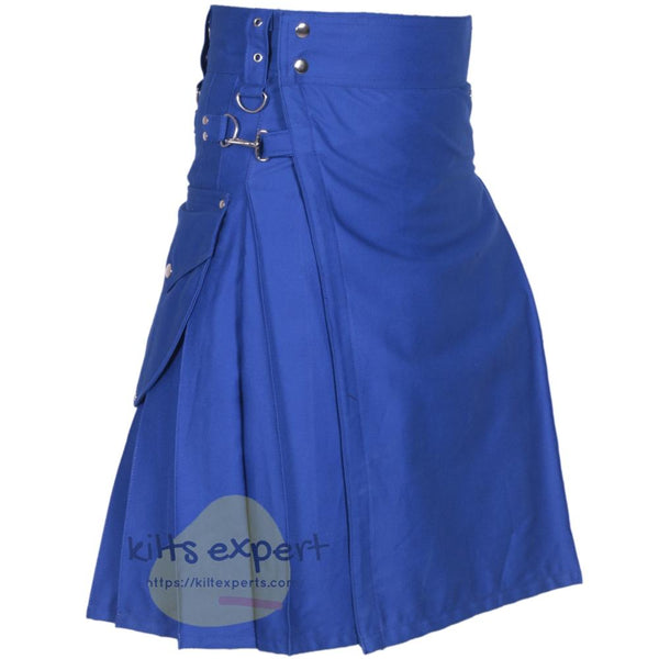Blue Cargo Utility Kilts For Men - Kilt Experts