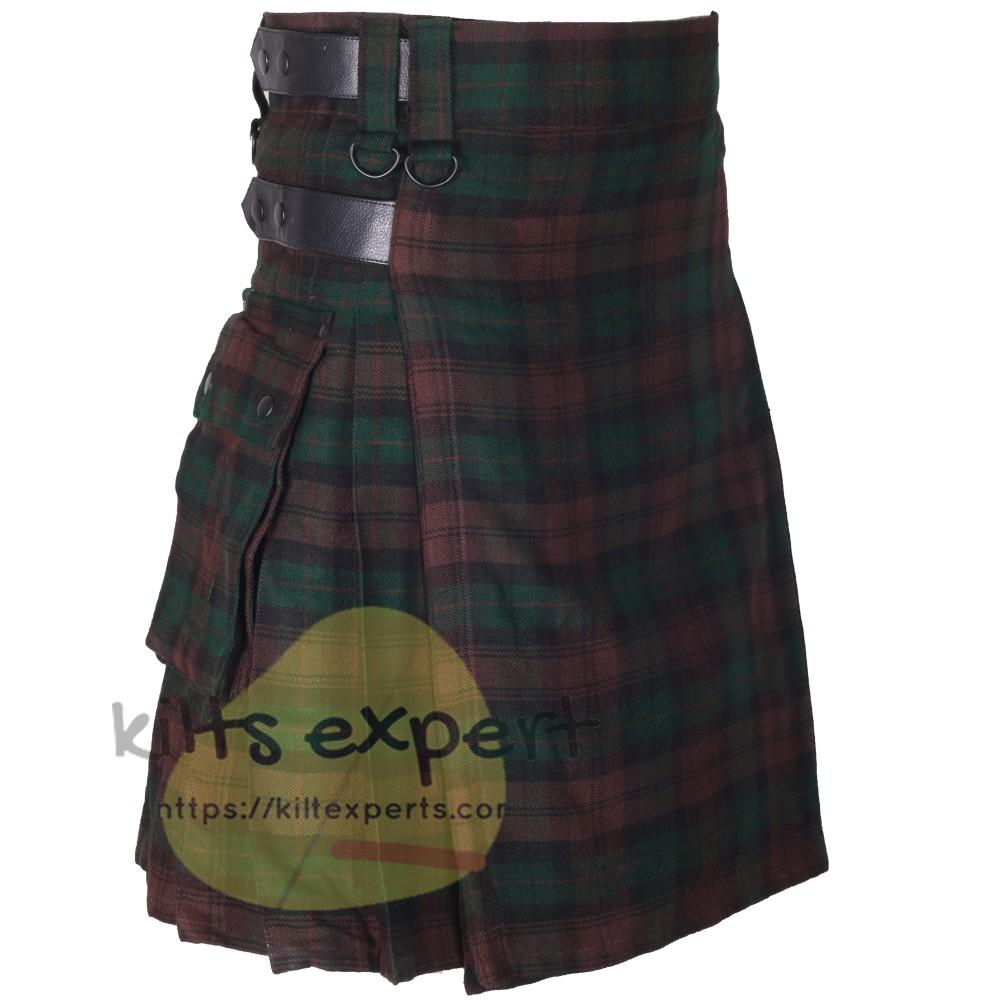 Brown Watch Leather Straps Utility Kilts