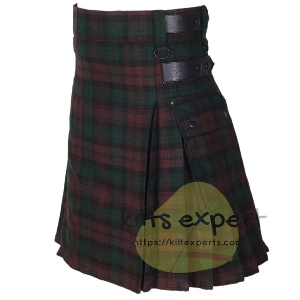 Brown Watch Leather Straps Utility Kilts - Kilt Experts