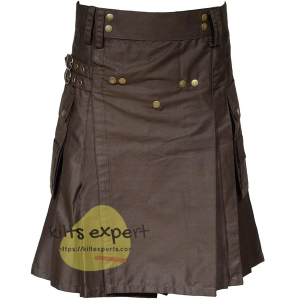 Chocolate Brown 5 button Kilt - Kilt Experts