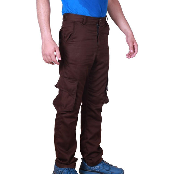 Chocolate Brown Cargo Pant For Work - Kilt Experts