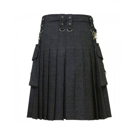 Deluxe Denim Fashionable Kilt Kilt Experts