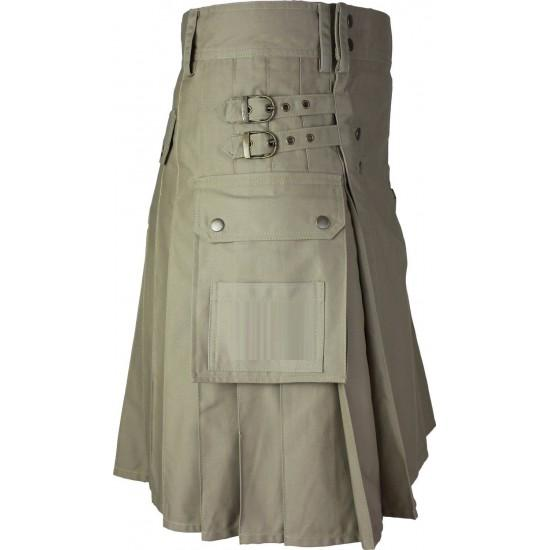 Fashionable Casual Five Studs Utility Kilt - Kilt Experts