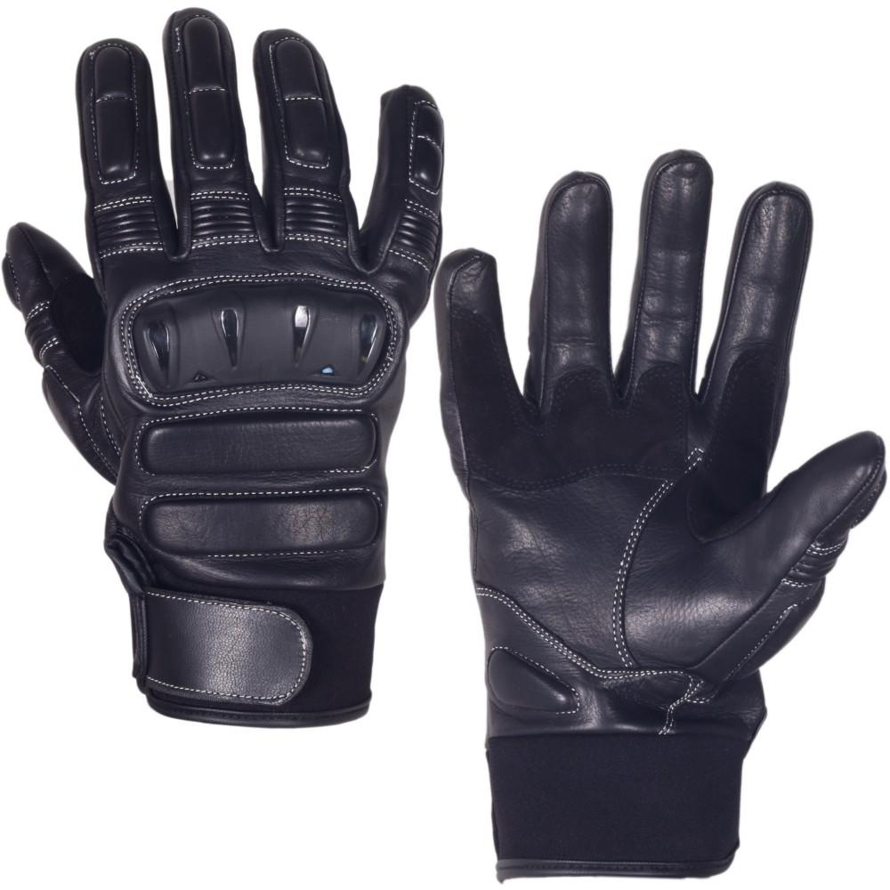 Genuine Cowhide Leather Gloves for Men with Reinforced Heel and Hard Knuckle Protectors