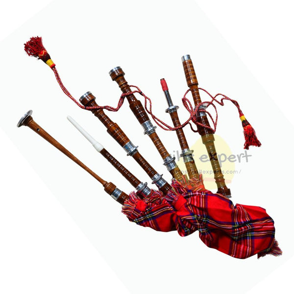 GREAT HIGHLAND ROSEWOOD BAGPIPE - Kilt Experts