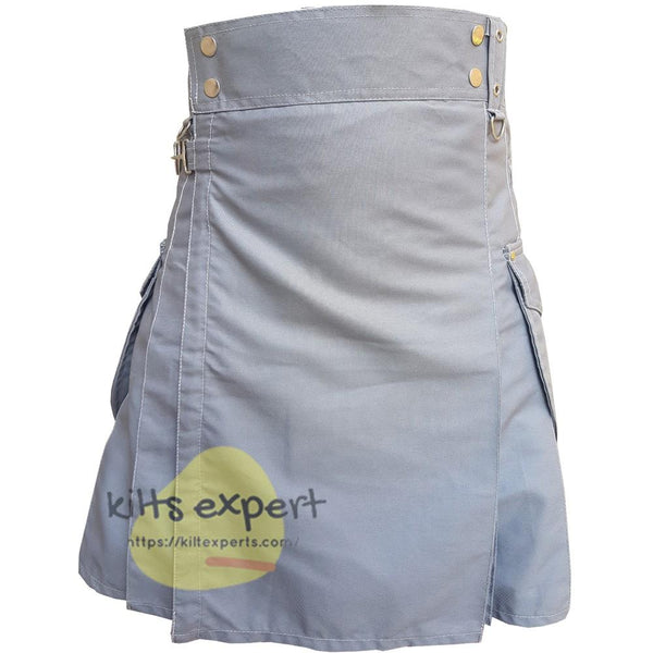 Grey Cargo Kilt - Kilt Experts