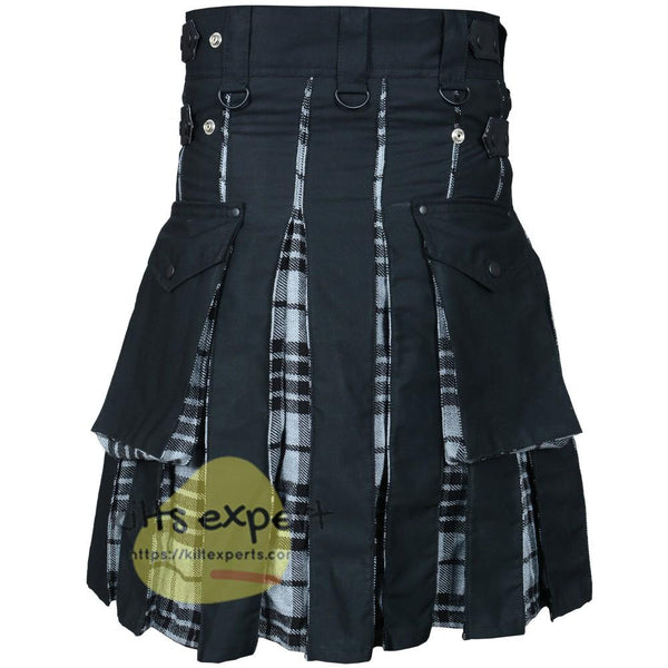 Grey Highlander Hybird Utility Kilt - Kilt Experts