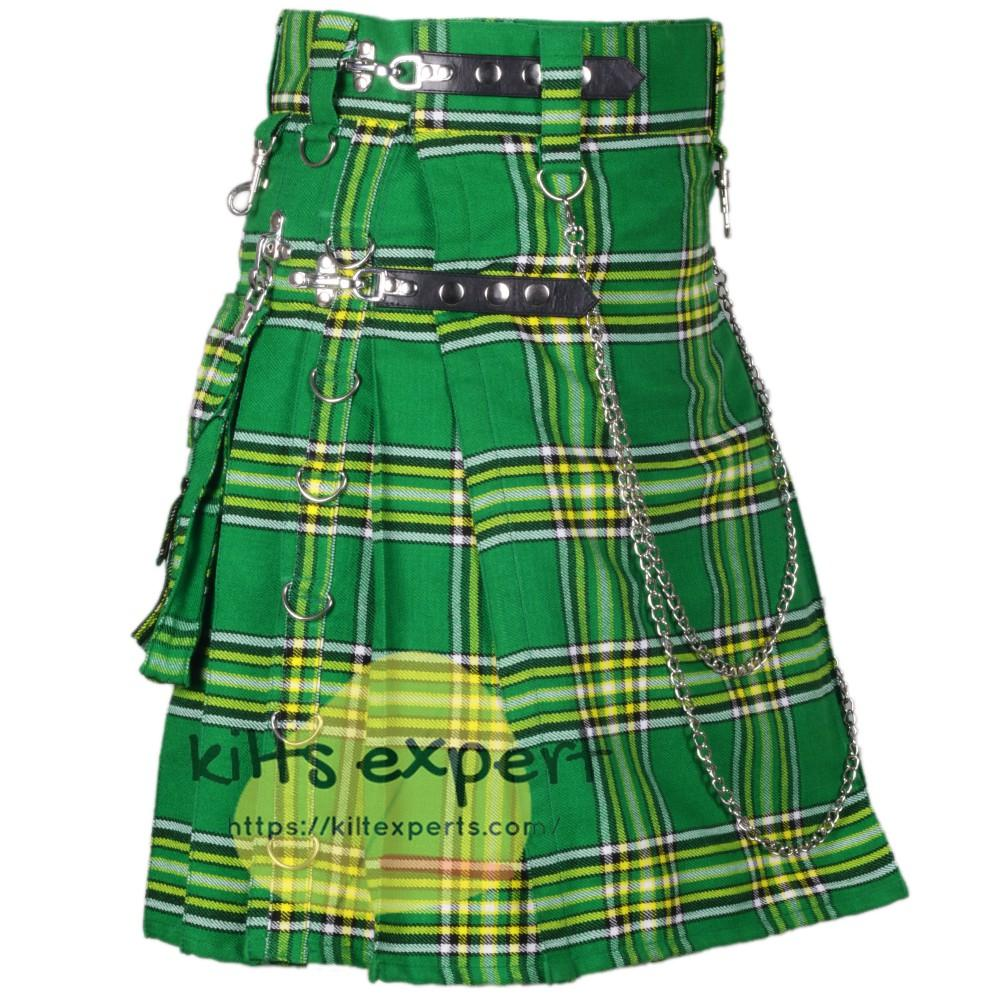 Irish heritage Acrylic Wool Stud Kilt For Men