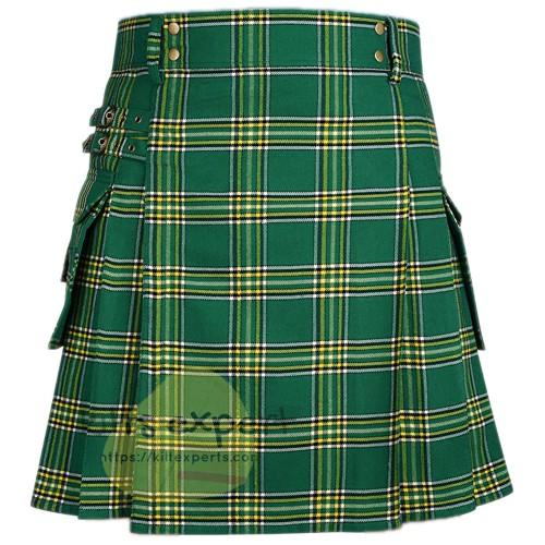 Irish Heritage Tartan Utility Kilt For Men's