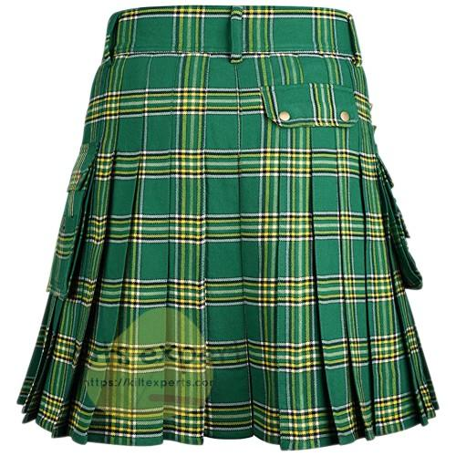 Irish Heritage Tartan Utility Kilt For Men's Kilt Experts