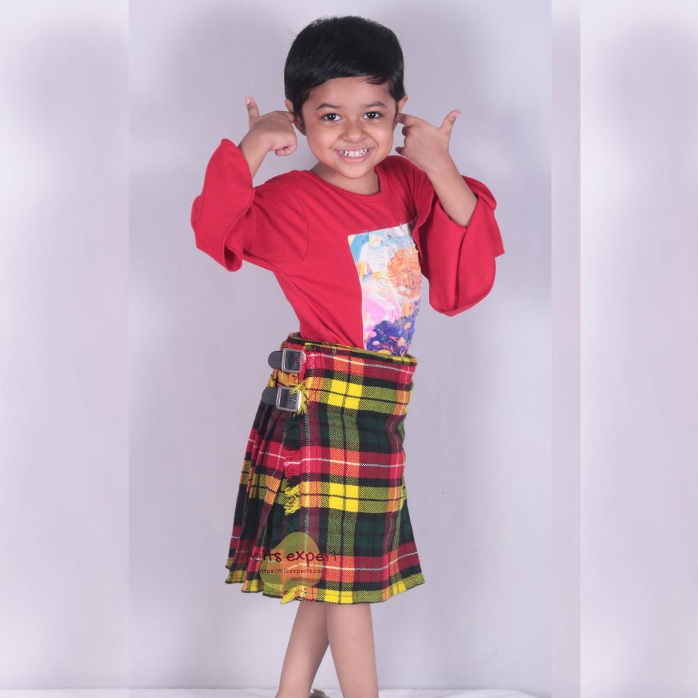 KIDS BOYS, GIRLS 13-Oz Casual / Formal Wear Scottish Tartan Kilt 25 Tartans