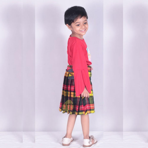 KIDS BOYS, GIRLS 13-Oz Casual / Formal Wear Scottish Tartan Kilt 25 Tartans - Kilt Experts