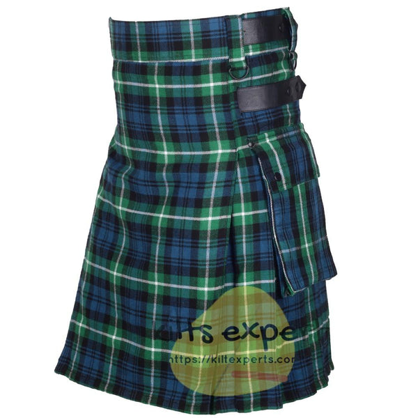 Lamont Ancient Leather Straps Utility Kilts - Kilt Experts