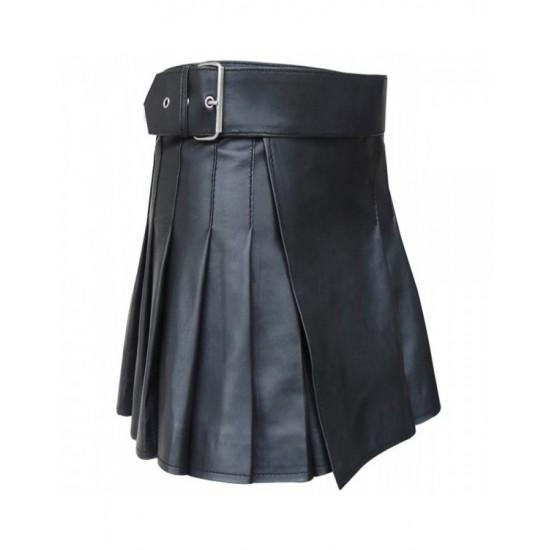 Leather Strap Short Skirt Kilt For Women