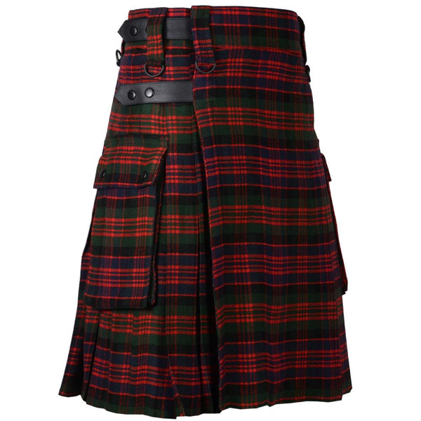 MacDonald Leather Straps Utility Kilt - Kilt Experts