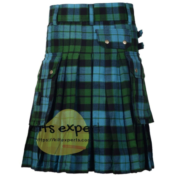 Mackay Ancient Tartan 16Oz Acrylic Wool Utility Kilt Kilt Experts