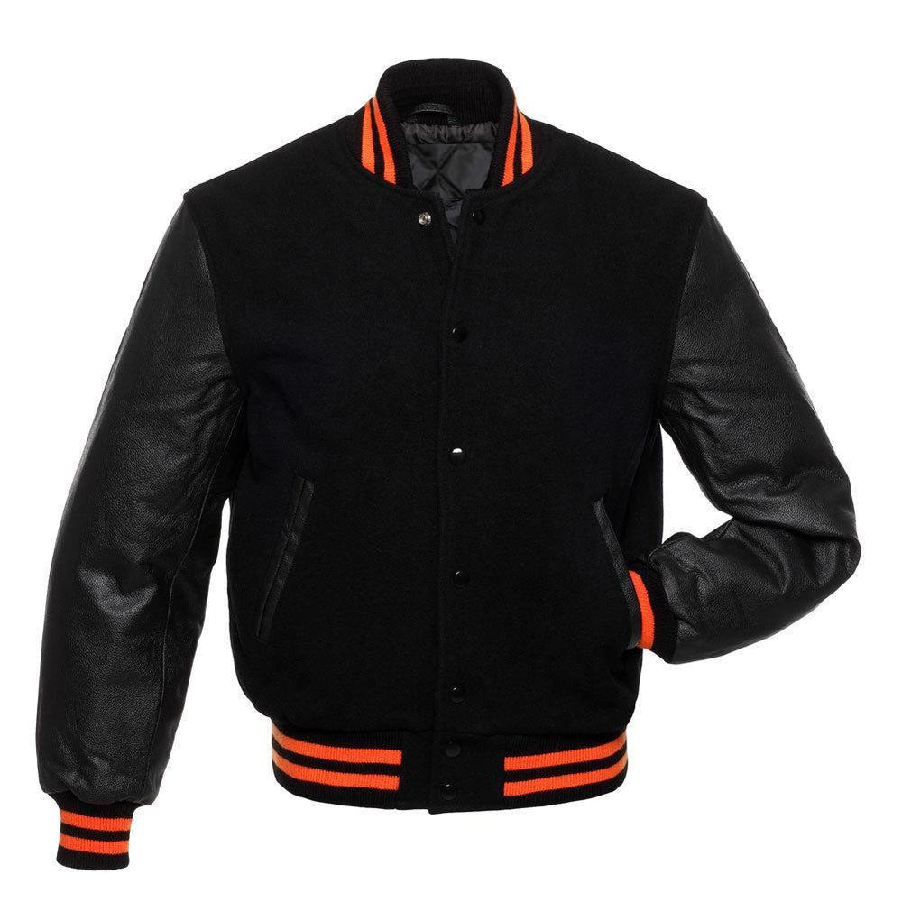 Men's Black/Orange Letterman