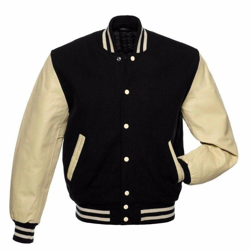 Men's Chocolate Black/Cream Varsity Jacket