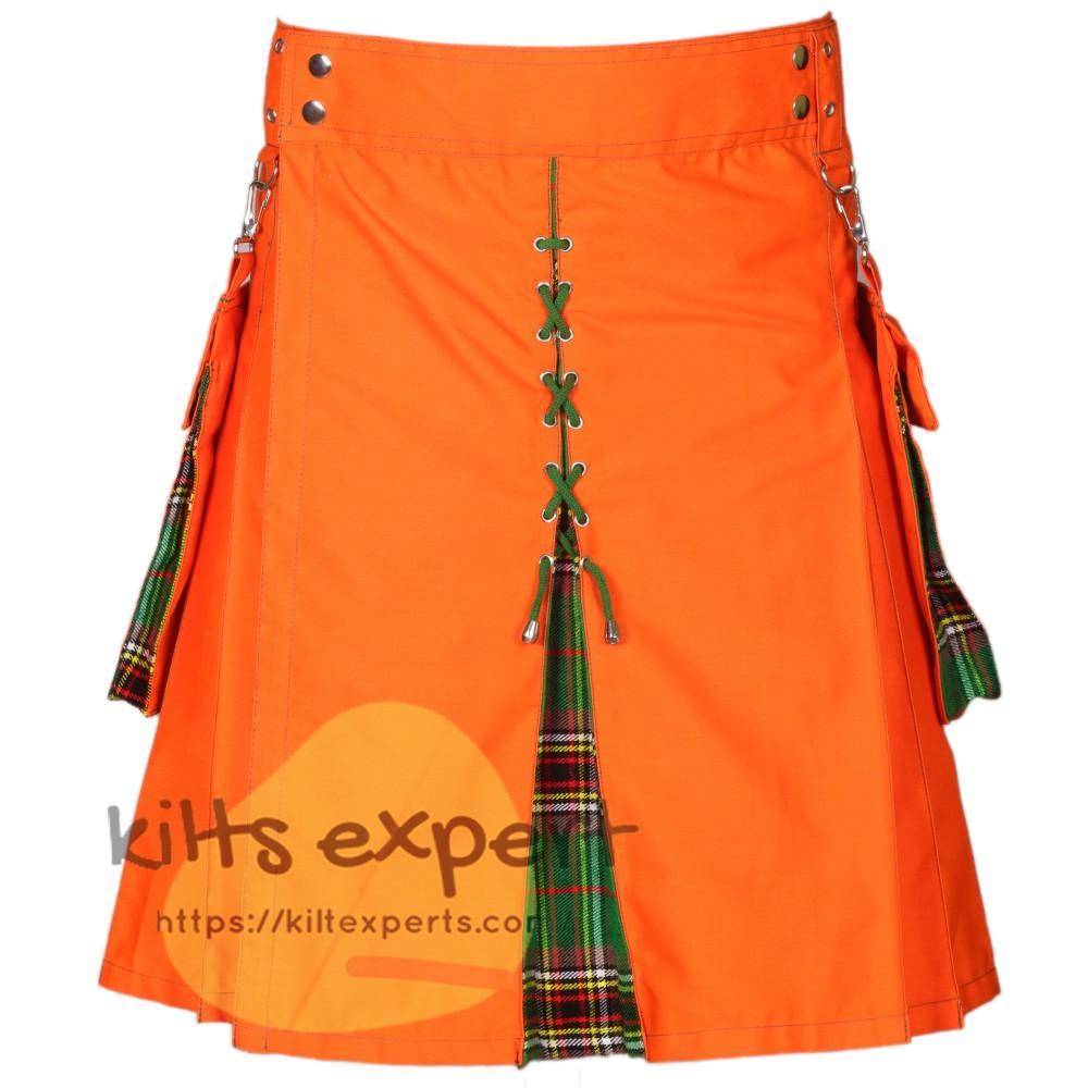 Men's Modern Orange & Tara Murphy Ancient Hybird Utility Kilt
