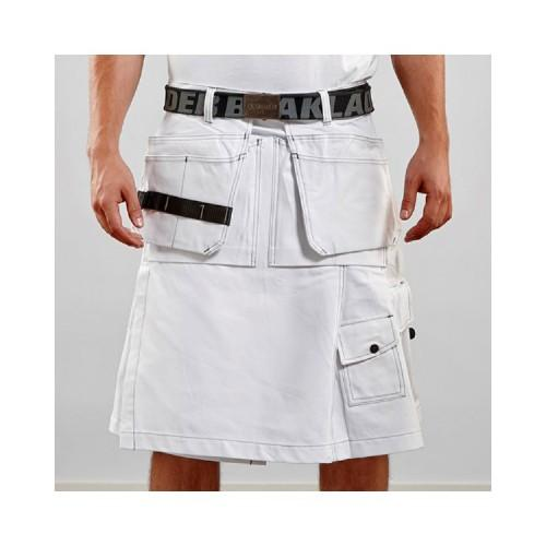 Modern White Fashion Utility Kilt - Kilt Experts