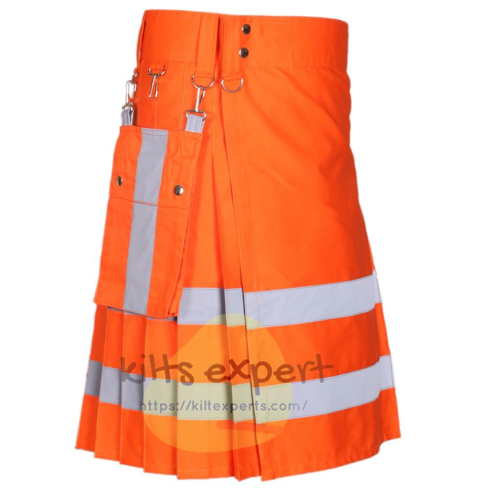 Modern Working Reflective Kilt With Detachable Pockets