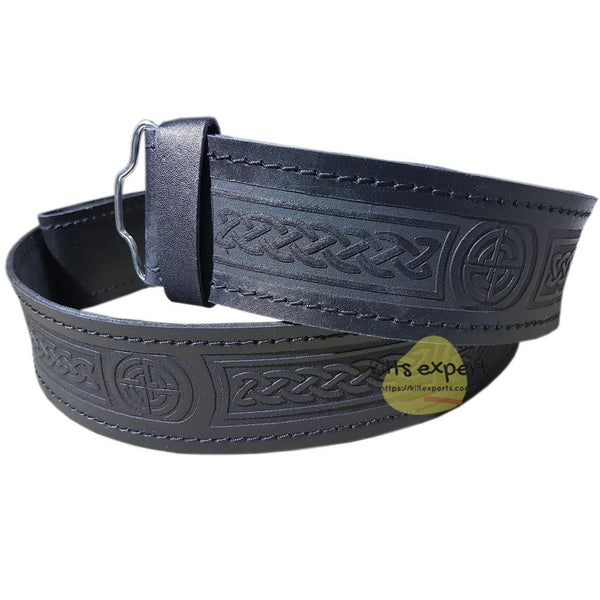 New Celtic Knot Kilt Belt - Kilt Experts
