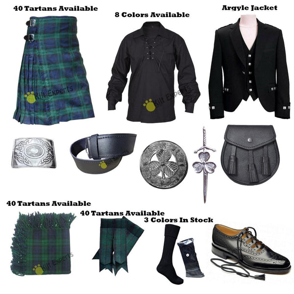 New Complete Outfit Wedding Kilt Deal - Kilt Experts