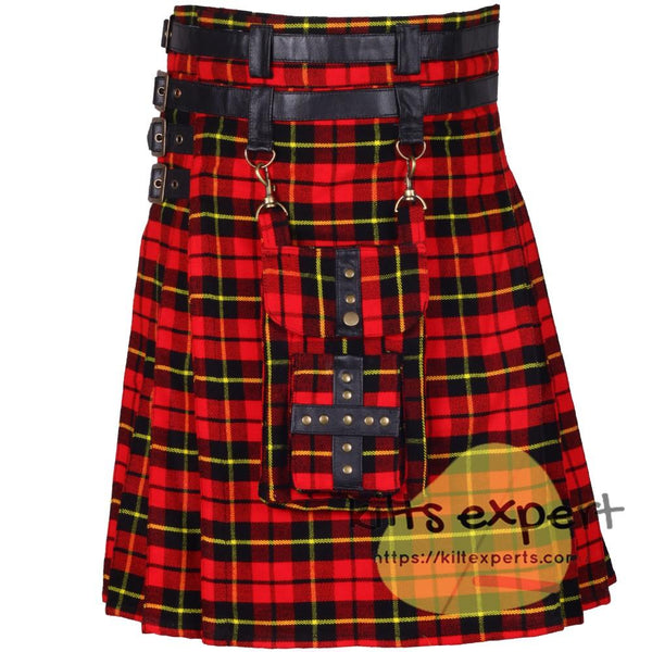 New Modern Best Tartan Utility Kilt With Detachable Pockets - Kilt Experts