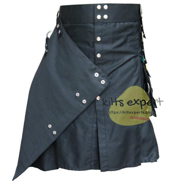 New Modern Fashion Utility Kilt With 4 Front Apron Free - Kilt Experts