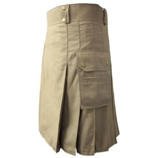 New Modern Khaki Working Utility Kilt Kilt Experts