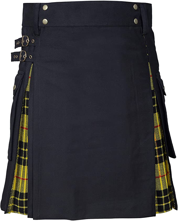 New Wedding Stylish MacLeod Of Lewis Hybird Kilt For Men's