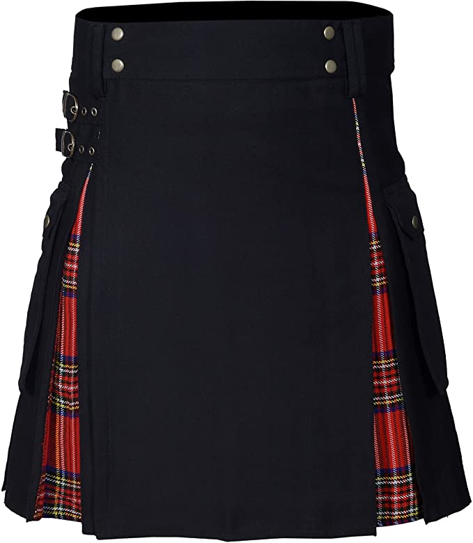 New Wedding Stylish Royal Stewart Hybird Kilt For Men's