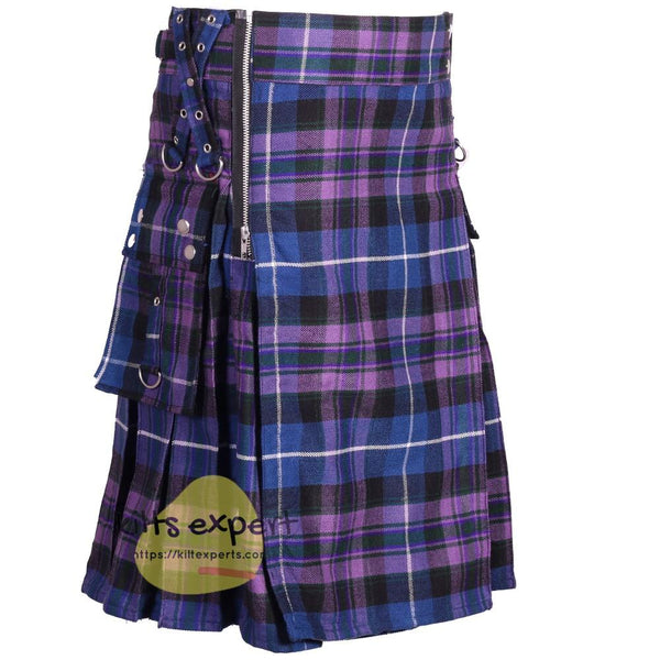 Pride Of Scotland Gothic Zipper Utility Kilt - Kilt Experts