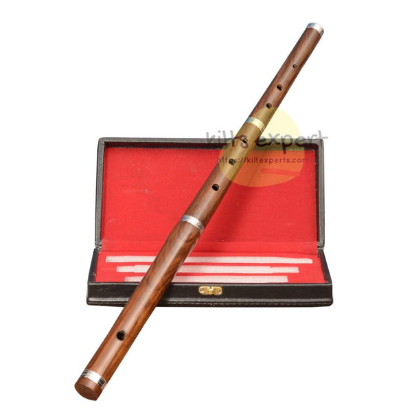 Professional 3 piece Irish Tunable Flute with Hard Case Kilt Experts